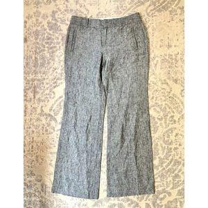 BANANA REPUBLIC Martin Fit Gray Linen Dress Pants